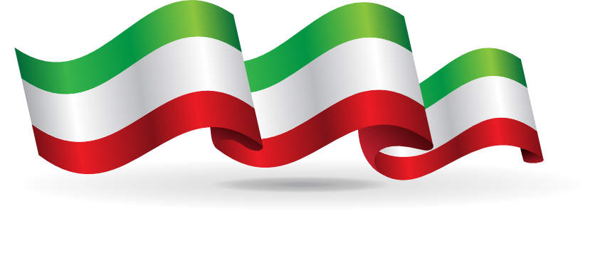 Banner in den italienischen Farben