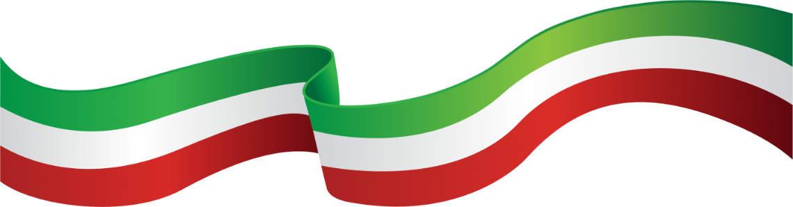 Banner in italienischen farben