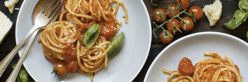 Spaghetti in Tomatensoße